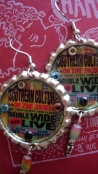 "Southern Culture On The Skids ""Double Wide"" Album Cover Art Earrings for Mary (The Vogue)"
