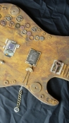 """Steam Punker"" Mixed Media Guitar"
